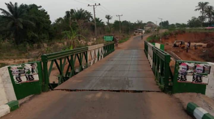 N22.3 million Enugu Community Bridge fixed by FERMA tears off one month after repair