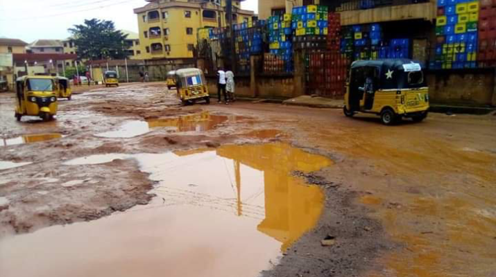 Enugu Awkunanaw Street, dilapidated, death trap
