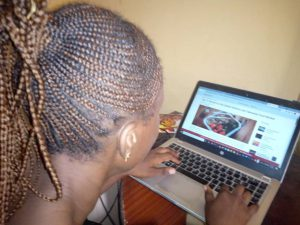 Mary, ordering food from online vendor