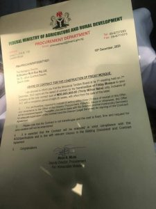 The Contract Award Letter