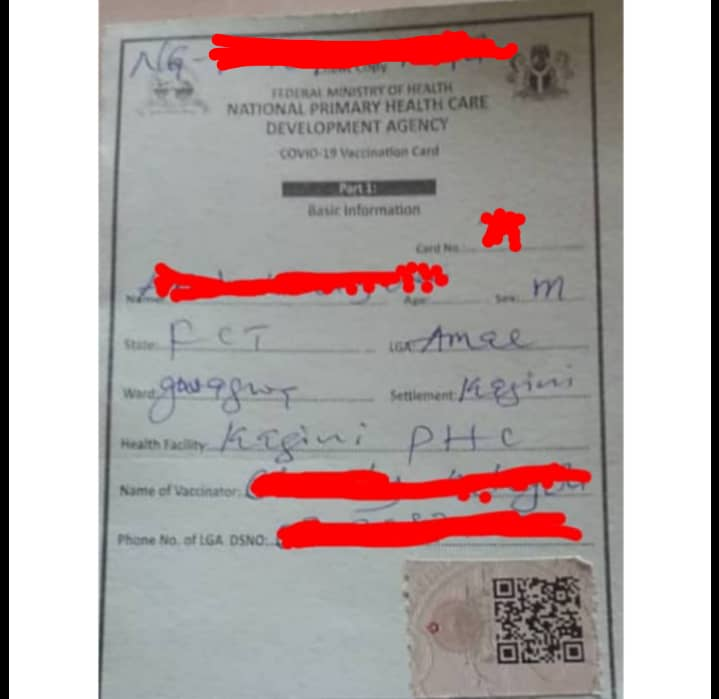 Investigation: How NPHCDA officials collects N5000 issues COVID-19 card without vaccination