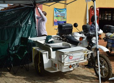 Rural residents addressing healthcare using mobile clinic